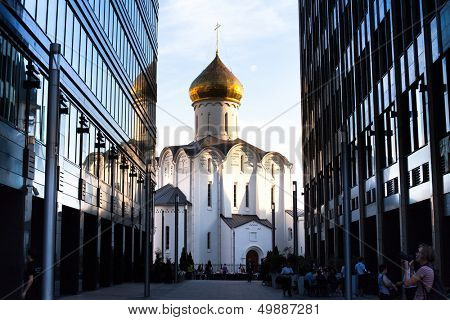 MOSCOW - JUN 15: Temple of St. Nicholas in Tverskaya Zastava, Jun 15, 2013, Moscow. Old Believer church, built on the site of the wooden chapel - construction started in 1914, consecrated - in 1921.
