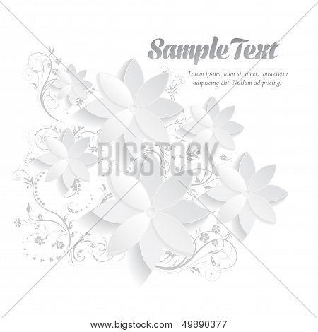 3D Paper Floral Elements