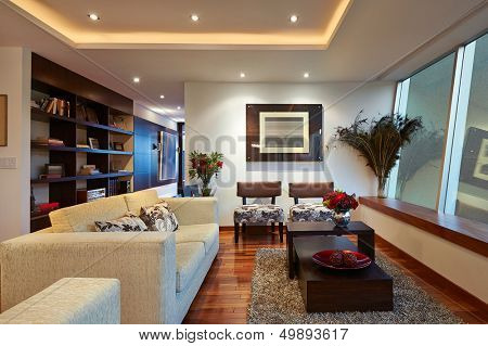 Innenarchitektur: Big Modern-Living Room
