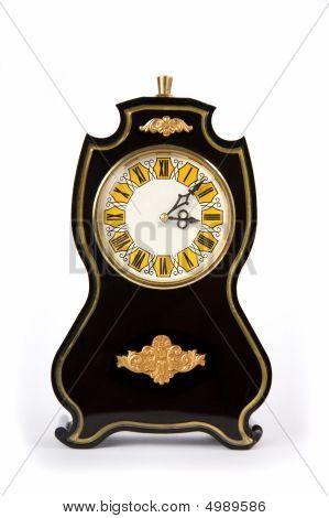 Vintage Clocks, Isolated On White Background