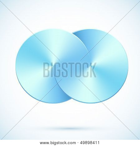 Blue circles vector infinity