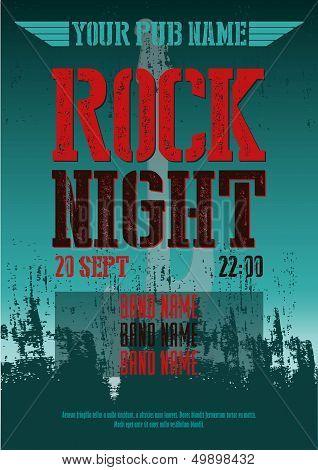 ROCK NIGHT - POSTER