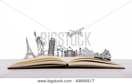 Book of travel (Japan,France,Italy,New York,India,egypt)