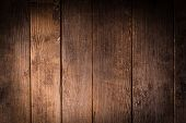 stock photo of wooden fence  - Old wooden background closeup for a design - JPG