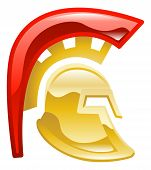 picture of spartan  - An illustration or icon of a trojan spartan or gladiator helmet - JPG