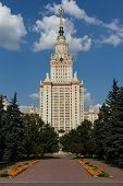 stock photo of mater  - Vertical image of Moscow State University - JPG
