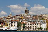 image of constantinople  - Karakoy and Galata Tower in Istanbul - JPG