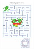stock photo of maze  - Maze game or activity page for kids - JPG