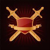 image of armorial-bearings  - Vector heraldic pattern on dark red background - JPG