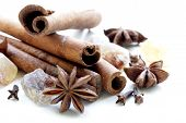 stock photo of cinnamon sticks  - Christmas spices  - JPG