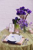 foto of purple sage  - A Purple and Green Reception Table Setting - JPG