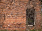 Historic Brick Wall With Window poster