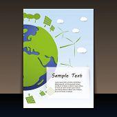 Постер, плакат: Экологически планеты | Флаер векторные иллюстрации