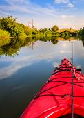 foto of fishing bobber  - Fishing from a kayak - JPG