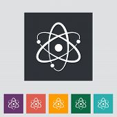 stock photo of proton  - Atom - JPG