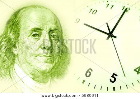 Benjamin Franklin And Clock