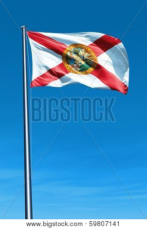 Florida (USA) flag waving on the wind