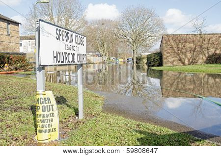 Flooded road, Basingstoke