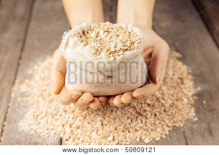 Oatmeal In The Hands