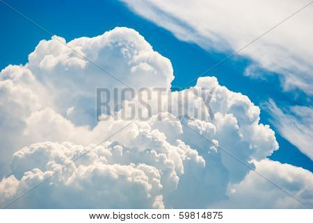 Blue Sky And Various Cloud Formations