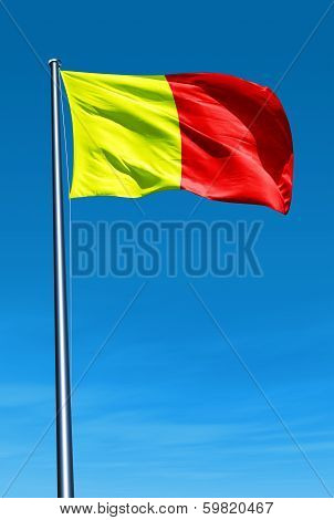 Orleans (France) flag waving on the wind