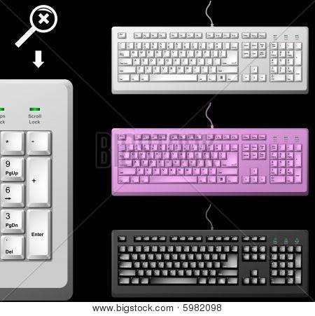 Standard PC keyboard
