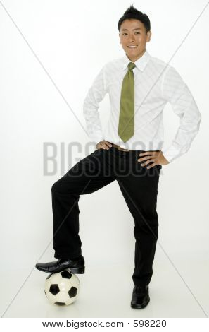 Businessman And Soccer