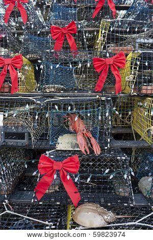 Lobster pot Christmas tree