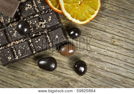 Chocolate and dried orange
