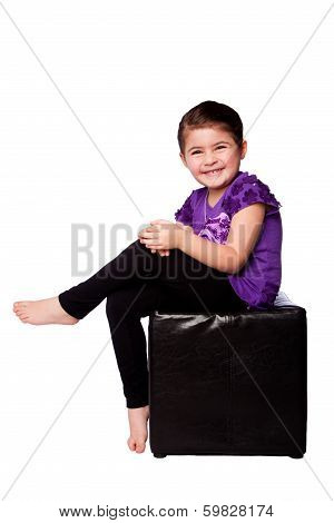 Cute Adorable Girl Sitting