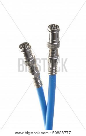 Coaxial cables with connectors