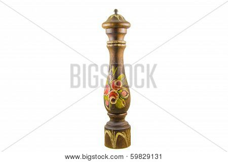 Wooden Pepper Mill With Decorations