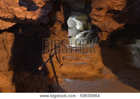 gallery in a cave