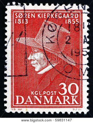 Postage Stamp Denmark 1955 Soren Kierkegaard, Philosopher