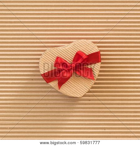 Heart shaped cardboard box