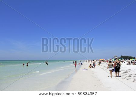 People At Siesta Beach, Florida