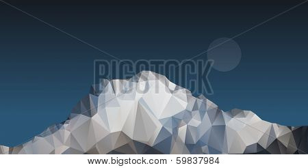 Vector polygonal mountain illustration.