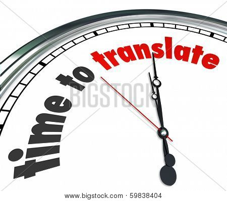 Time to Translate Words Clock Language Interpret Message Meaning