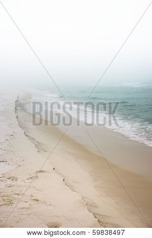 Foggy Dreamy Day At The Beach