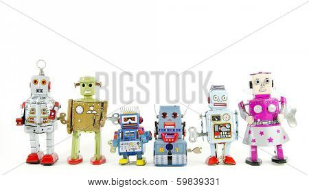 a team of robot toys