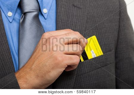 Man taking his credit card