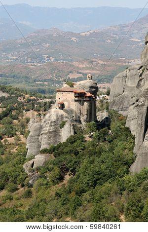 Meteora monasteries in Thessalia Greece