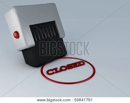 closed stamp