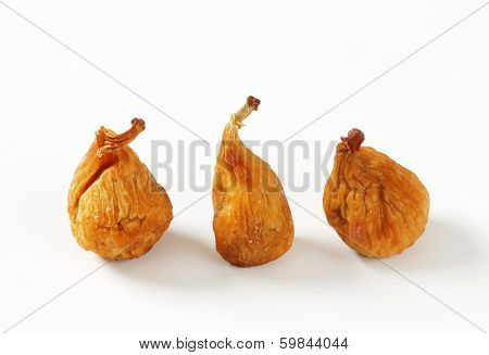 three naturally dried figs