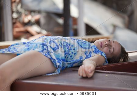 Unconscious Woman After Accident