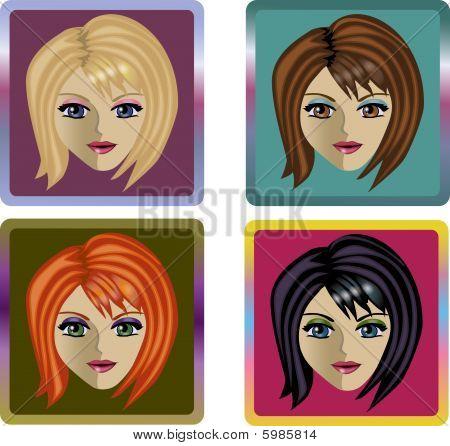 Avatar female set
