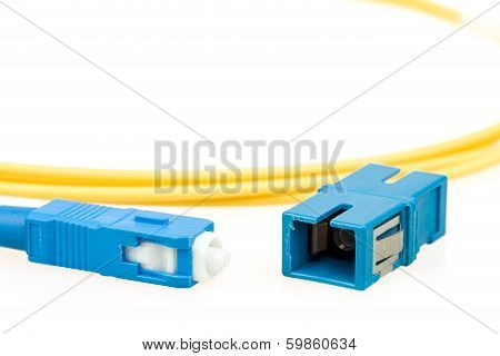 Blue Fiber Optic Sc Connector