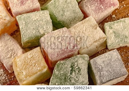 Delicious Turkish Delight Close-up