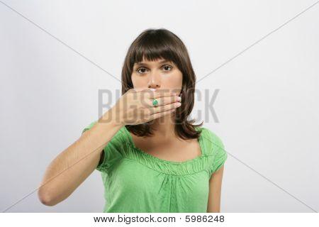 Beautiful girl wearing an ring