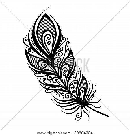 Peerless Decorative Feather (Vector)